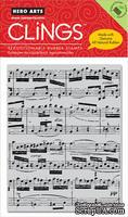 Резиновый штамп Hero Arts - Music Background, c оснасткой