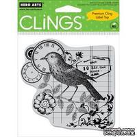 Резиновый штамп Hero Arts - Timely Bird, с оснасткой