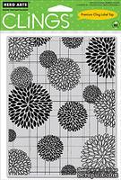 Резиновый штамп Hero Arts - Flower Bursts Pattern, c оснасткой