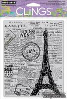 Резиновый штамп Hero Arts - Newspaper Eiffel Tower, c оснасткой - ScrapUA.com