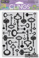Резиновый штамп Hero Arts - Fancy Keys, c оснасткой