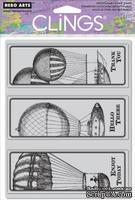 Набор резиновых штампов Hero Arts - Flying Airships, c оснасткой