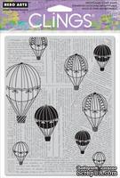 Резиновый штамп Hero Arts - Balloon Ride, c оснасткой