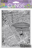 Резиновый штамп Hero Arts - Fly Away Newsprint, c оснасткой