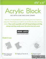 Акриловый блок Hero Arts для больших штампов, размер 12х15 см