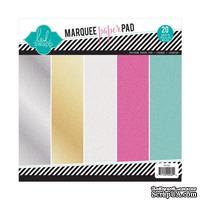 """Набор термотрансферных глиттерных листов от Heidi Swapp - Glitter Paper Pad 8.5""""X8.5"""" , 20 листов, 5 цветов."""