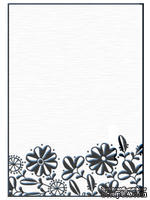 Папки для тиснения Nellie Snellen Embossing Folder - Flower Border 1 - ScrapUA.com