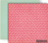 Лист скрапбумаги GCD Studios - Pink Flora - Splendor Collection - двусторонняя, 30х30 см