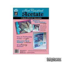 """Термоустойчивый ацетатный прозрачный лист от Heat Resistant Acetate 8.5""""X11"""", 21.59х27.94 см, 1 шт."""