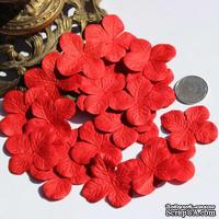 Гортензия, цвет: красный, 3,2 см, 20 шт.