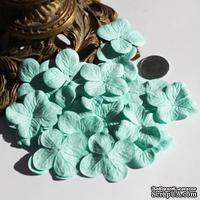 Гортензия, цвет: аквамарин, 3,2 см, 20 шт. - ScrapUA.com