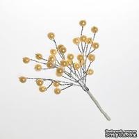 Мини-веточки с жемчужинками от Scrapberry's  КРЕМОВЫЕ  6 шт