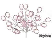 Мини-веточки с акриловыми крапельками от Scrapberry's розовые  6 шт