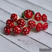 Грибочки от Scrapberry's - мухоморы, 12 шт