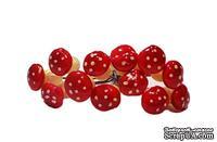 Грибочки от Scrapberry's - Красные, мини, 12 шт.