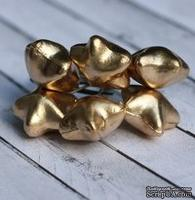 Звезды от Scrapberry's, золотые, 6шт