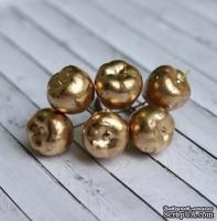 Золотые яблочки от Scrapberry's, 6 шт