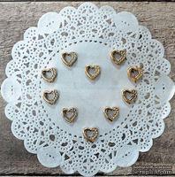 Пряжки пластиковые сердце от ScrapBerry's - Золото, 1 см, 10 шт
