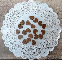 Кофейное сердце, материал дерево, размер 10 мм, 20 шт.