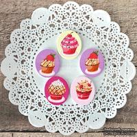 Пуговицы декоративные от Hobby&You - Дерево. Десерт, 30х25 мм , 5 шт