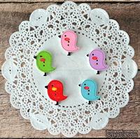 Пуговицы декоративные от Hobby&You - Птички, дерево