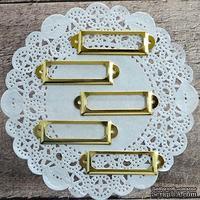 Рамки металлические декоративные - Золото, 5 шт.