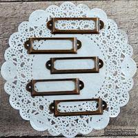 Рамки металлические декоративные - Медь, 5 шт.