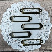 Рамки металлические декоративные - Бронза, 5 шт.