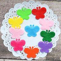 Декор фетровый от ScrapBerry's - Бабочки 1, разноцветные, 3,5 см, 10 шт