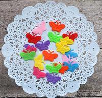 Декор фетровый от ScrapBerry's - Бабочки 2, разноцветные, 2,2 см, 20 шт