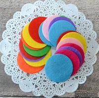 Декор фетровый от от ScrapBerry's - Кружки, разноцветные, 4 см, 20 шт
