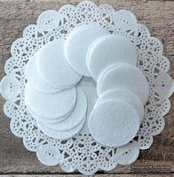 Декор фетровый от ScrapBerry's - Кружки белые, 4 см, 20 шт