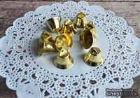 Колокольчики, круглые, цвет золотой, диаметр 18 мм, 10 шт.