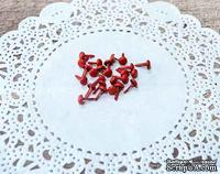 Набор брадсов от ScrapBerry's, красные, 8х4,5 мм, 25 шт