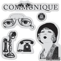 Набор резиновых штампов Hampton Art/ Graphic 45 - Communique-I