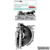 Штампы от  Hampton Art - Cosmo Cricket - Season's Greetings Cling Mounted Rubber Stamps
