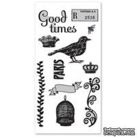Набор резиновых штампов Hampton Art/7 Gypsies - Birdsong, с оснасткой