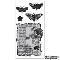 Набор резиновых штампов Hampton Art/Diffusion - Butterflies are Free, с оснасткой
