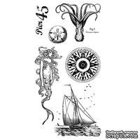 Набор резиновых штампов Graphic 45 - By the Sea - Cling Stamp 2, 10х21 см