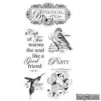 Набор резиновых штампов Graphic 45 - Botanical Tea - Cling Stamp 1, 10х21 см