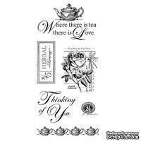 Набор резиновых штампов Graphic 45 - Botanical Tea - Cling Stamp 2, 10х21 см