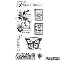 Набор резиновых штампов Graphic 45 - Botanical Tea - Cling Stamp 3, 10х21 см