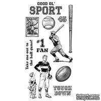 Набор резиновых штампов Graphic 45 - Good Ol Sport - Cling Stamp 1, 10х21 см