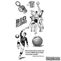 Набор резиновых штампов Graphic 45 - Good Ol Sport - Cling Stamp 2, 10х21 см