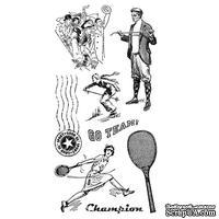 Набор резиновых штампов Graphic 45 - Good Ol Sport - Cling Stamp 3, 10х21 см