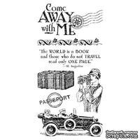 Набор резиновых штампов Graphic 45 - Come Away with Me 1, 10х21 см