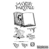 Набор резиновых штампов Graphic 45 - An Eerie Tale - Grim Fairytale 1, 10х21 см