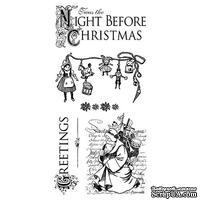 ЦЕНА СНИЖЕНА! Набор резиновых штампов Graphic 45 - Twas the Night Before Christmas 1, 10х21 см