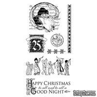 ЦЕНА СНИЖЕНА! Набор резиновых штампов Graphic 45 - Twas the Night Before Christmas 2, 10х21 см