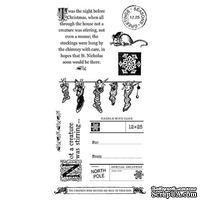 Набор резиновых штампов Graphic 45 - Twas the Night Before Christmas 3, 10х21 см